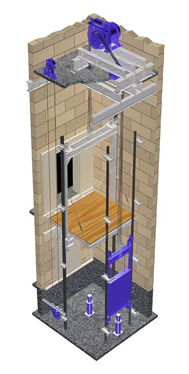 نصب آسانسور گیرلس در کرج